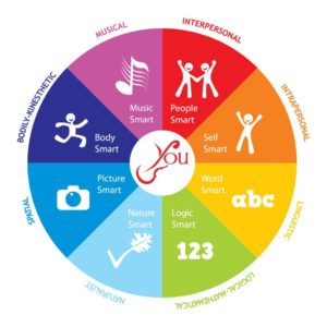 color wheel showing the eight intelligences