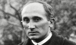 black and white photo of Romano Guardini