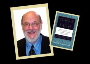 color photos (two) of James Fowler (head shot) and a copy of his book Stages of Faith